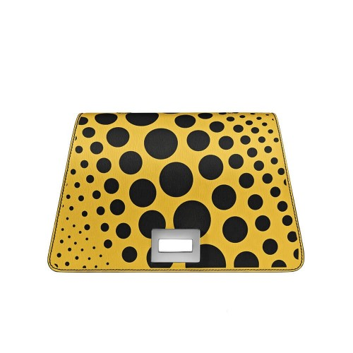 Bellamì patta in pelle con pois in digitale giallo
