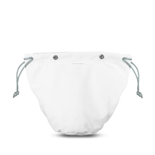 Sacca interna con laccio per borsa in pelle Medusa colore bianco / argento