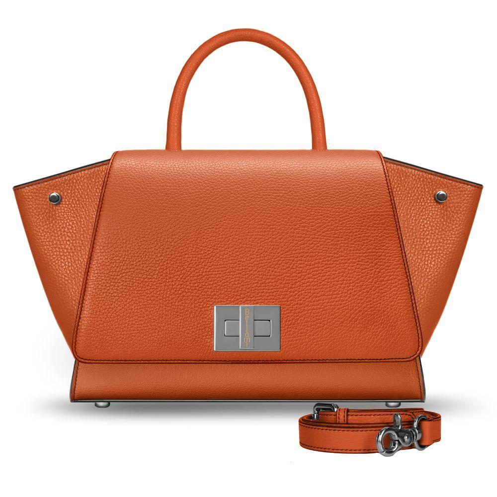 Borsa arancione in pelle modello Bellami cod BEBO380