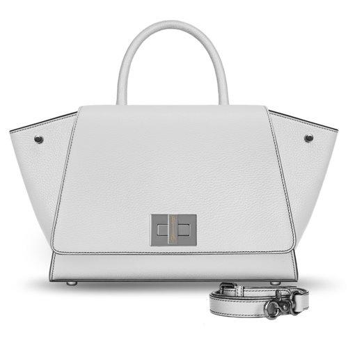 Borsa pelle bianca modello Bellami cod BEBO351