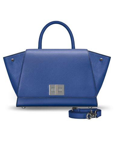 Borsa blu in pelle modello Bellami cod BEBO530