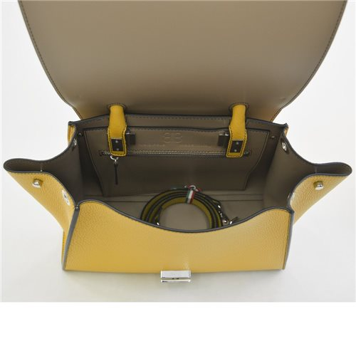 borsa giallo ocra in pelle Bellami cod BEBO520