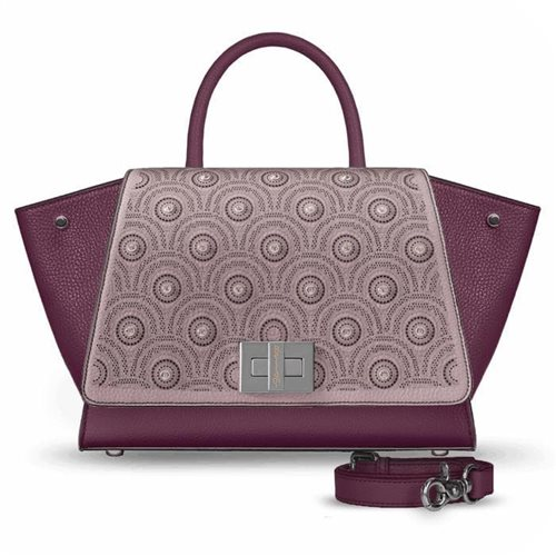 borsa bordeaux in pelle modello Bellami cod BEBO541